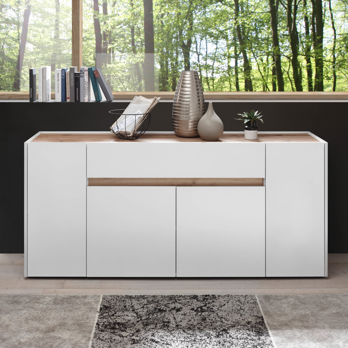 Sideboard T Star Korpus Front Anthrazit Weiss Applikation In