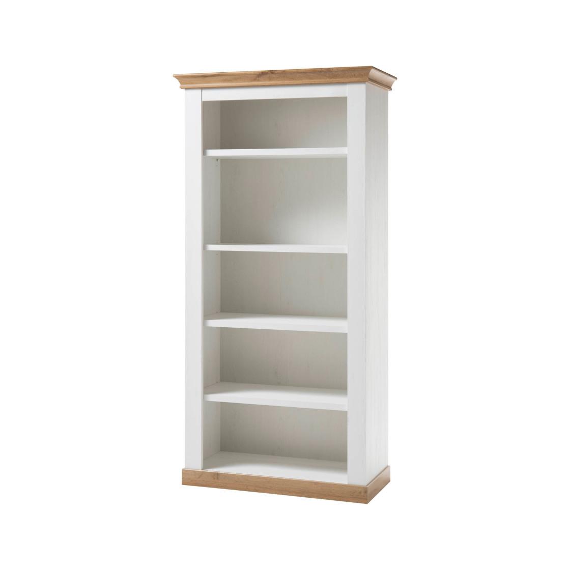 regal landhaus pinie wei applikation wotan eiche 219. Black Bedroom Furniture Sets. Home Design Ideas